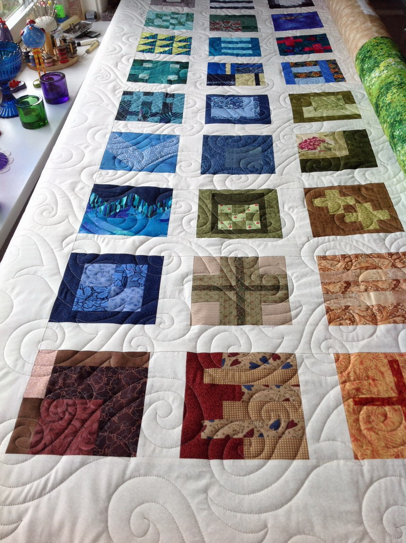closeup quilting